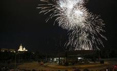 Espectáculo de fuegos artificiales de las fiestas de San Juan de Sahagún de Salamanca