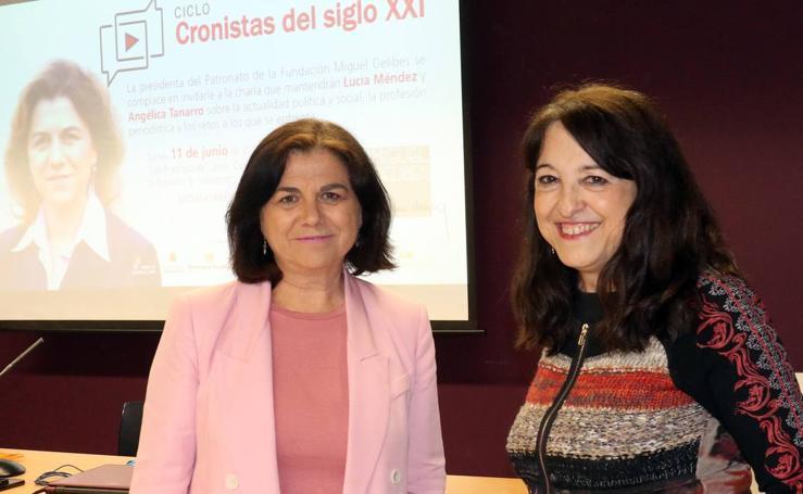 Lucía Méndez, en el ciclo 'Cronistas del Siglo XXI' de la Fundación Miguel Delibes