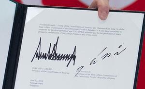 Contenido íntegro de la declaración conjunta firmada por Trump y Kim