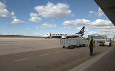 El aeropuerto de Valladolid cierra mayo con un crecimiento del 15,2% en el número de pasajeros