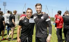Santi Cazorla se recupera entrenando con Unionistas CF