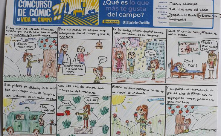 Trabajos de 4º de Primaria en la modalidad de cómic del II Concurso de Dibujo y Cómic 'La vida del campo'
