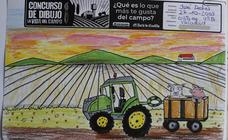 Trabajos de 4º de Primaria en la modalidad de dibujo del II Concurso de Dibujo y Cómic 'La vida del campo'