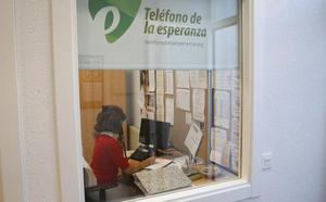 El Teléfono de la Esperanza recibió 2.050 llamadas en demanda de ayuda durante 2017
