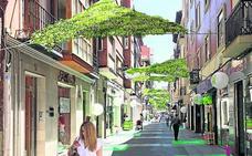 Toldos vegetales y jardines verticales para oxigenar el hormigón del centro de Valladolid