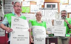 El encierro de funcionarios de prisiones en Madrid se prolonga ya veinte días