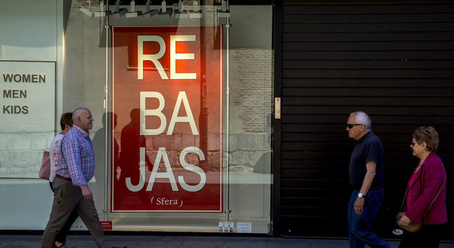 Las ventas del comercio vallisoletano descienden un 40% en primavera por el mal tiempo