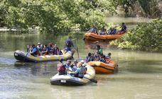 Descenso por el río Carrión de los alumnos del Jorge Manrique