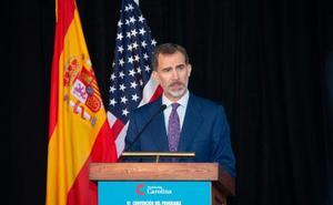 El Rey no prevé hablar de Cataluña con Trump