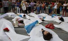 Acto en apoyo a los refugiados en Salamanca