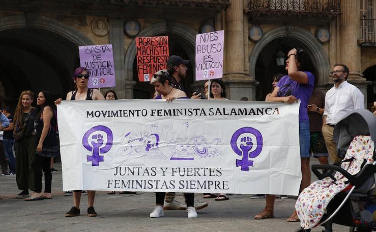 Concentración contra la excarcelación de La Manada