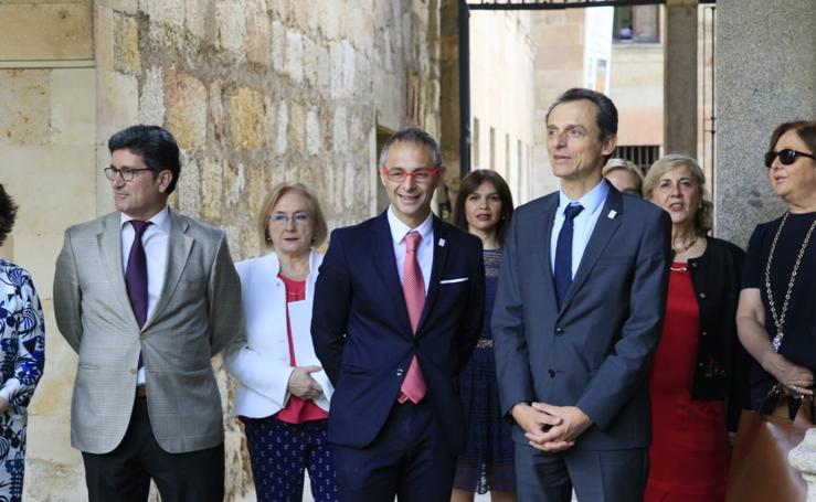 Pedro Duque visita la Universidad de Salamanca