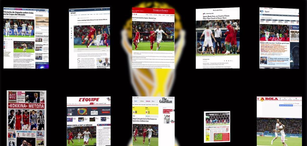 Así vio la prensa internacional la sufrida victoria de España sobre Irán
