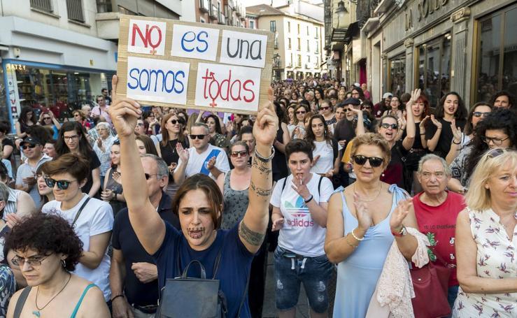 Manifestación en Valladolid contra la puesta en libertad provisional de La Manada