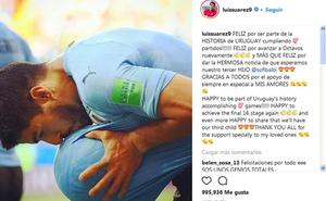Luis Suárez anuncia que espera su tercer hijo tras marcar un gol en el Mundial de Rusia