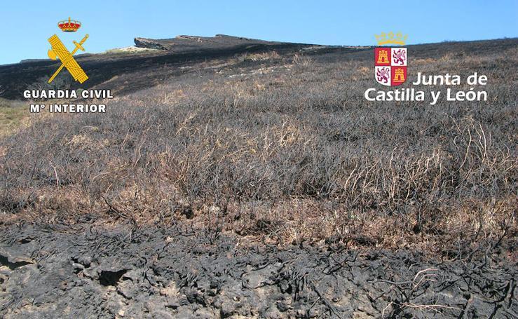 Investigados por un incendio en Nava de Ordunte, Valle de Mena