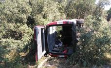 Herido el conductor de una furgoneta al salirse de la carretera en Puente Duero