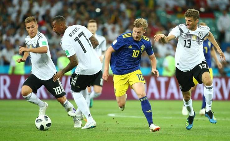 El Alemania-Suecia, en imágenes