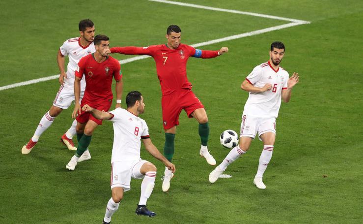 Irán-Portugal, en imágenes