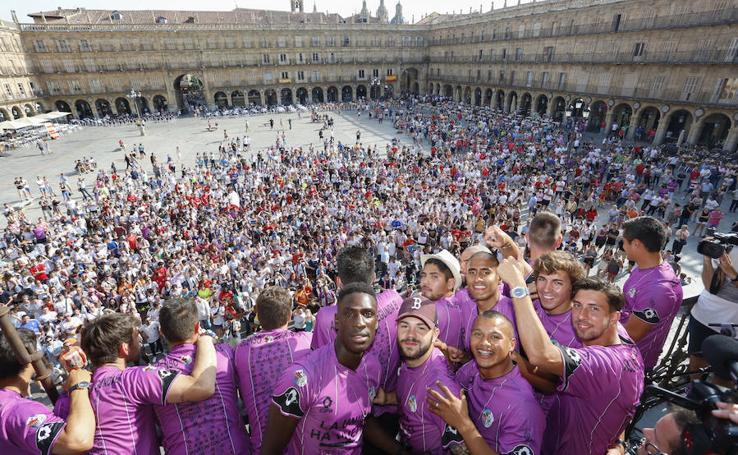 La celebración del CF Salmantino