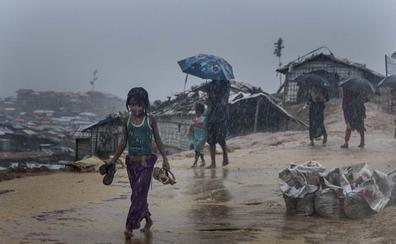 El monzón agrava la crisis alimentaria en los campos rohingya, con un 12% de niños con desnutrición