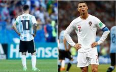 El día en que Messi y Cristiano se despidieron del Mundial