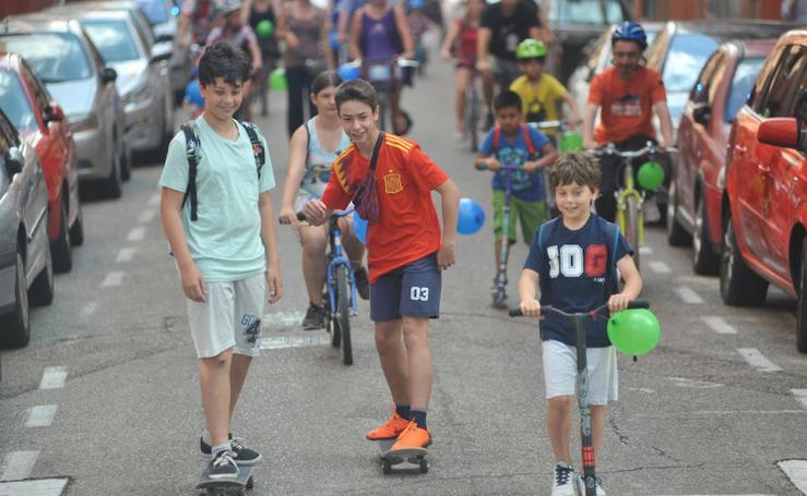 Marcha sobre ruedas en la Rondilla