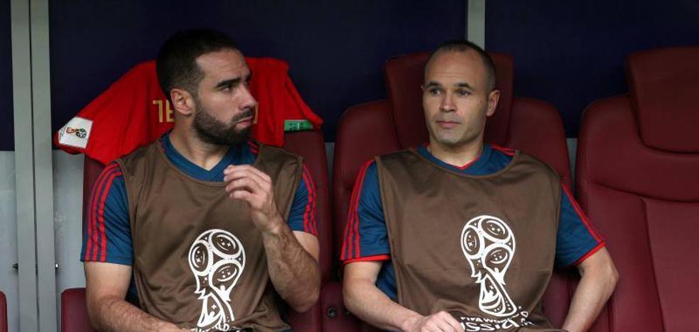 Iniesta, suplente como Xavi en el Mundial de Brasil