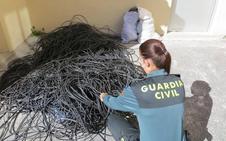 Detenidos por robar cable de cobre en Segovia y tratar de venderlo en Salamanca