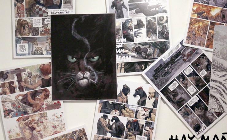 Exposición 'Blacksad' en la Sala Municipal de Exposiciones de la Casa Revilla en Valladolid