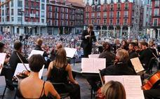 La tormenta impide concluir el concierto de la Oscyl en Valladolid