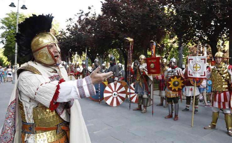 Las legiones de La Olmeda visitan Palencia