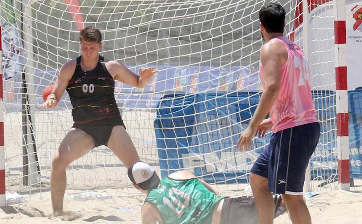 Final masculina de balonmano playa en Valladolid