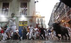 Herida con traumatismo leve una joven de Zamora durante el segundo encierro de San Fermín