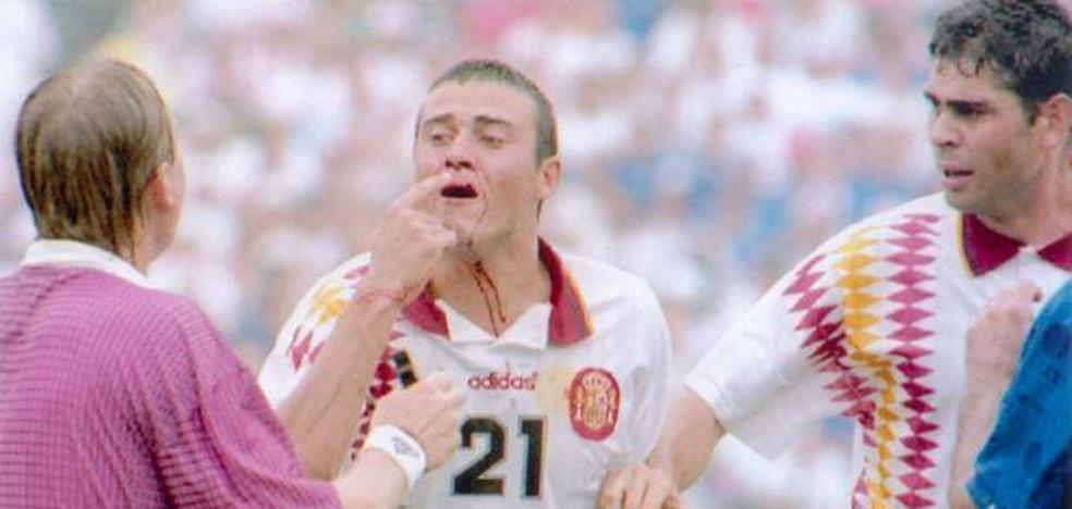 Luis Enrique, seleccionador 24 años después del codazo de Tassotti