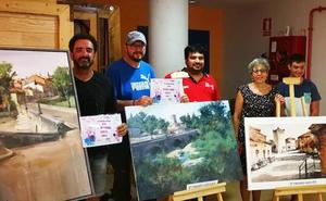 El segoviano Pedro Cebrián gana el concurso de pintura rápida al aire libre de Mojados