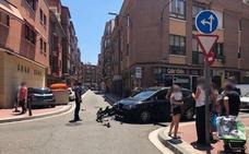 Se salta un ceda al paso y choca con otro vehículo en Valladolid