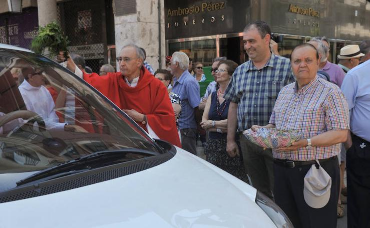 Los taxistas de Valladoild celebran San Cristóbal