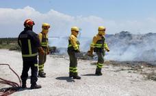Incendio en una escombrera de Cuéllar