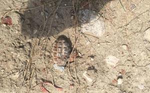 Hallan una granada con carga de la Guerra Civil en un camino rural de Zaratán