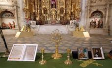 Obras de arte recuperadas por la Guardia Civil, expuestas en el Convento Museo de San Francisco de Medina de Rioseco