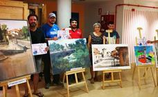 El navero Pedro Cebrián gana el concurso de pintura rápida al aire libre de Mojados