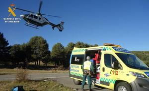 Rescatada una senderista tras un accidente en Navalperal de Tormes (Ávila)