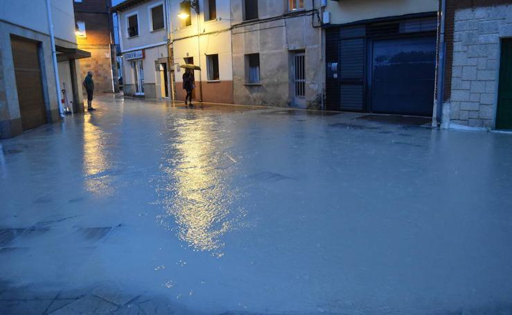 Tromba de agua en Aguilar