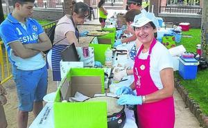 Una fiesta solidaria de venta de crepes recauda fondos contra el cáncer en Pedrajas