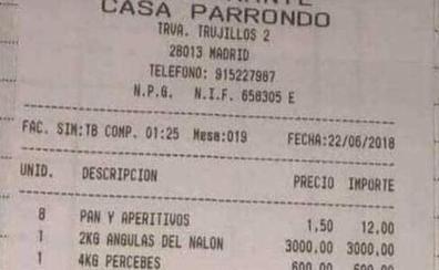 La factura de una comilona épica en Madrid: 49.292 euros a pagar entre ocho