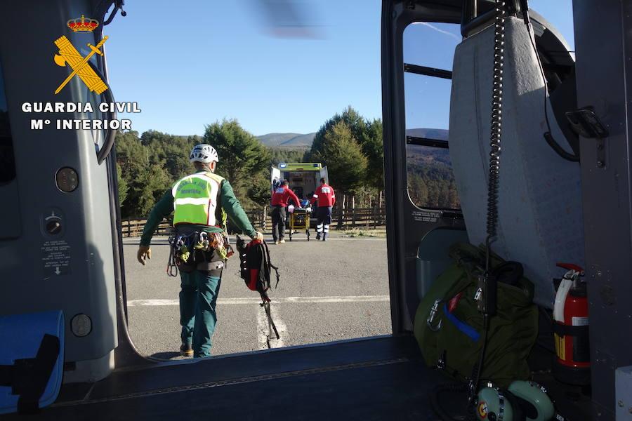 Un senderista rescatado tras un accidente en el Puerto del Peón en Ávila