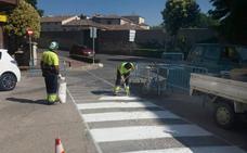 Cuéllar instala nuevos pasos de peatones para reforzar la seguridad de los viandantes