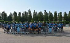 Ochenta personas participan en la Marcha Cicloturista a Megeces
