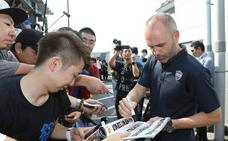 Iniesta llega a Japón para incorporarse al Vissel Kobe